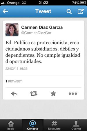 Carmen Díaz, concejal delegada de Cultura y Educación, una vergüenza para la ciudad